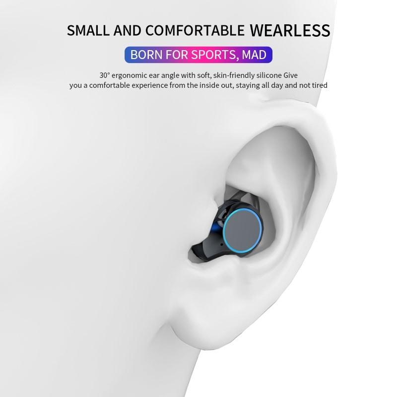 G02 V5.0 Bluetooth Stereo Earphone Wireless IPX7 Waterproof Touch Earbuds Headset - 4