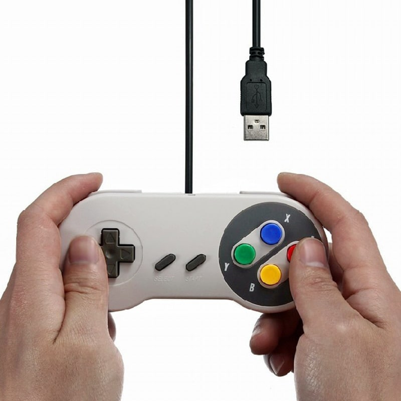 Gaming Controller for Windows PC, MAC Computer and Nintendo SNES Space Gray - 4
