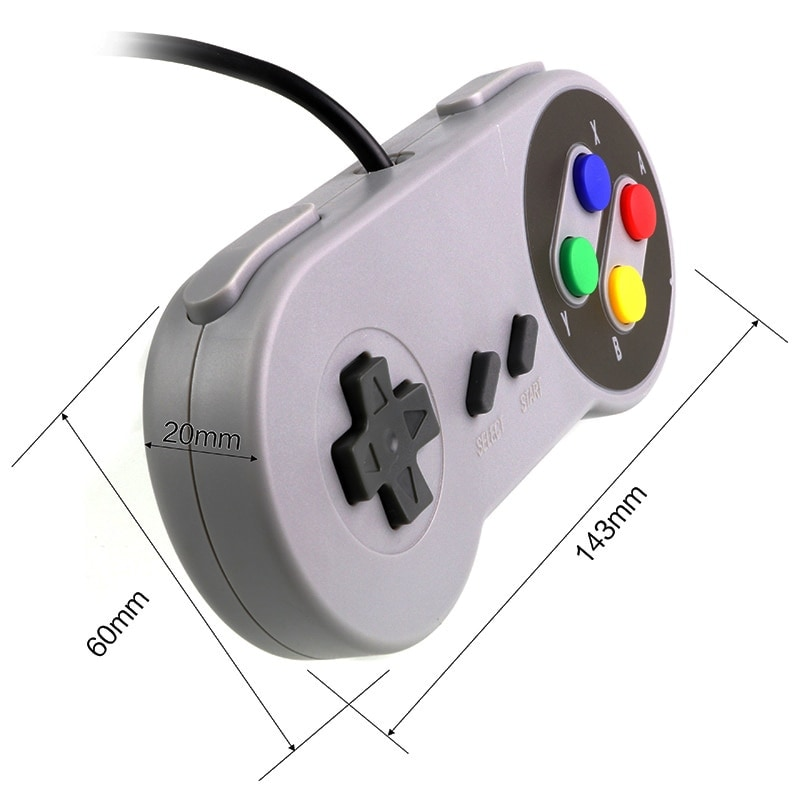 Gaming Controller for Windows PC, MAC Computer and Nintendo SNES Space Gray - 3