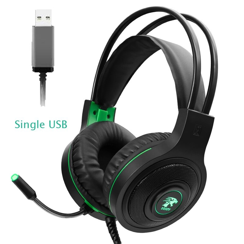 Gaming Headset 7.1 Stereo with Microphone Voice Control for PC PS4 Laptop Black - 1