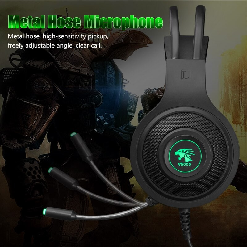 Gaming Headset 7.1 Stereo with Microphone Voice Control for PC PS4 Laptop Black - 4