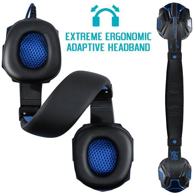 Gaming Headset EastVita PC780 with lighting microphone and bass earphones for PC / PS4 / Xbox - Blue - 2
