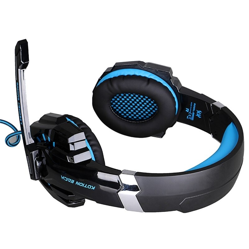 Gaming Headset for PlayStation PS4 Tablet PC 3.5mm Headphone Mic for Laptop - 3