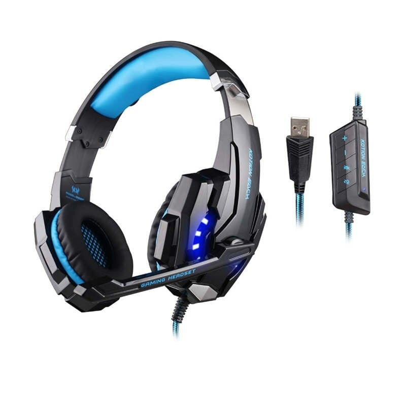 Gaming Headset for PlayStation PS4 Tablet PC 3.5mm Headphone Mic for Laptop - 1