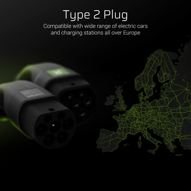 GC® Cable Green Cell GC Type 2 for charging EV Tesla Leaf Ioniq Kona E-tron Zoe 22kW - 3