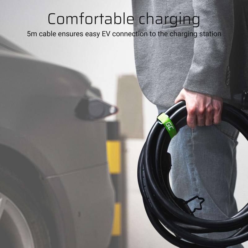 GC® Cable Green Cell GC Type 2 for charging EV Tesla Leaf Ioniq Kona E-tron Zoe 22kW - 7