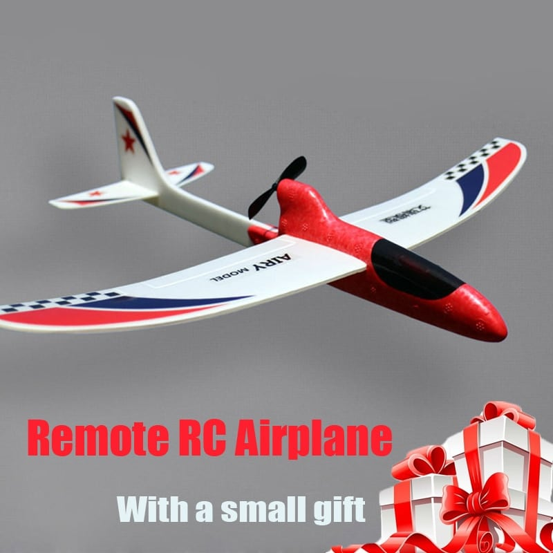 Glider Foam RC Drone Capacitor Hand Throwing Electric Plane Resistance to falling Toys Orange - 1