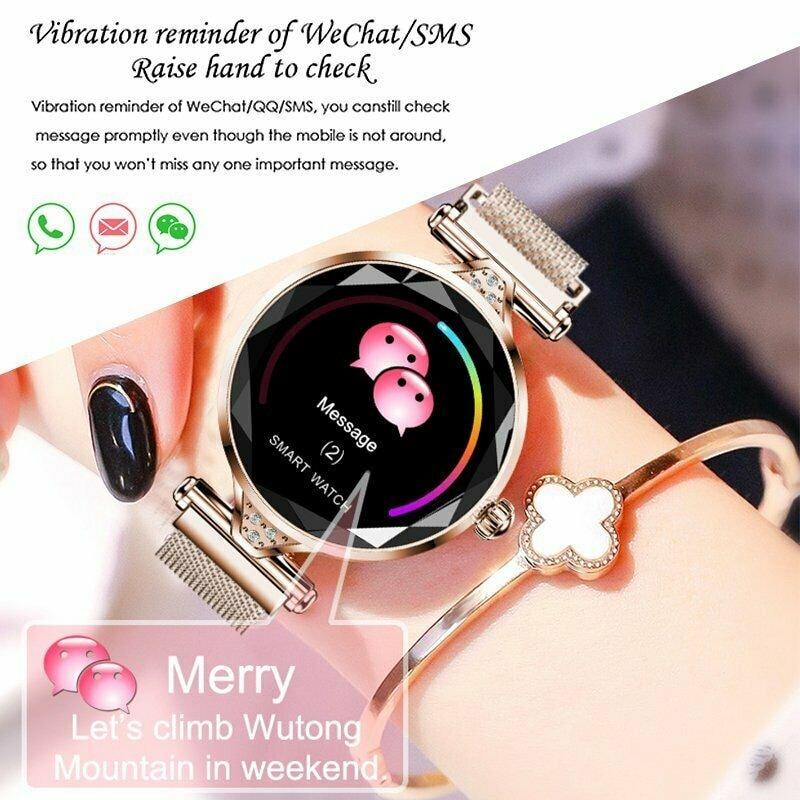 H1 Waterproof Women Lady Fashion Smart Watch Bracelet Sport Fitness Tracker Blue CHINA - 10