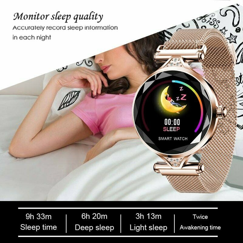 H1 Waterproof Women Lady Fashion Smart Watch Bracelet Sport Fitness Tracker Blue CHINA - 11