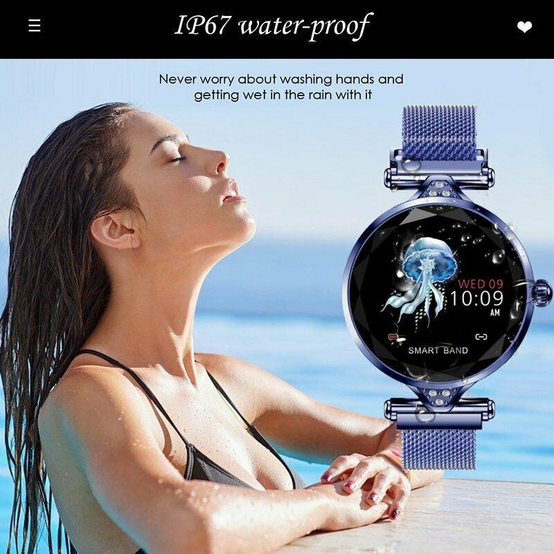 H1 Waterproof Women Lady Fashion Smart Watch Bracelet Sport Fitness Tracker Blue CHINA - 12