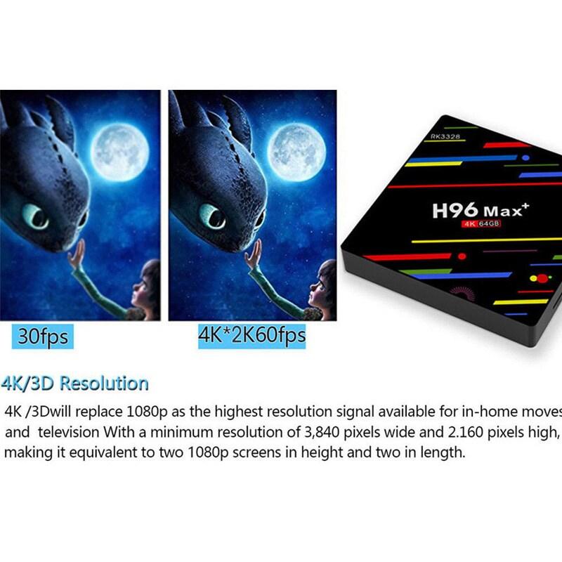H96 Max + TV Box K17.6 HD Smart Network Media Player - 4GB RAM, 32GB ROM, Android 8.1, US PLUG - 5