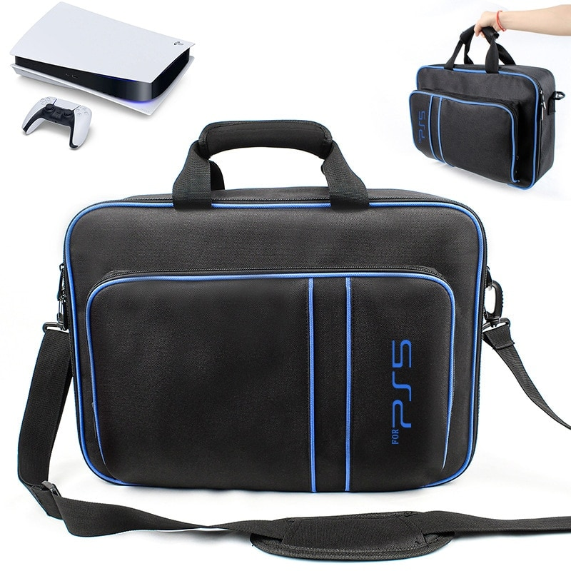 Handbag For Play Station 5 Console with Shoulder Strap Canvas Case Black - 1