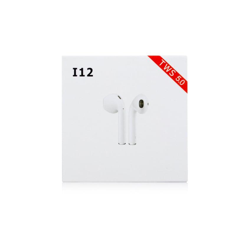 i12 TWS Bluetooth Earphone - White - 5