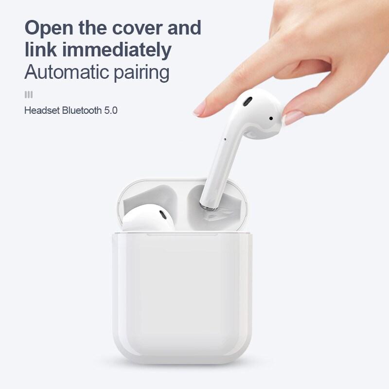 i12 TWS Bluetooth Earphone - White - 2