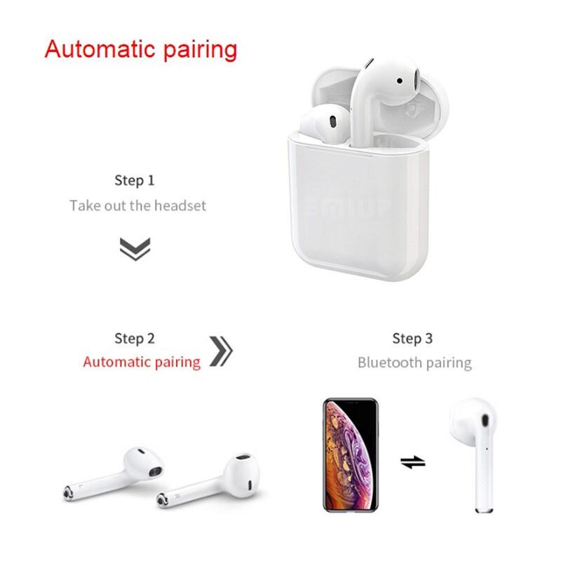 i12 TWS Bluetooth Earphone - White - 4