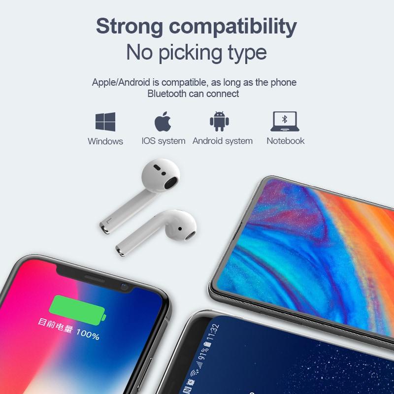 i12 TWS Bluetooth Earphone - White - 3