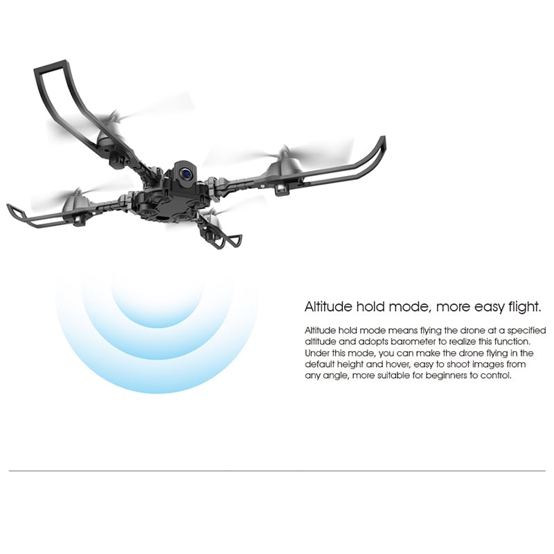 iDrone i5 Camera Drone - Altitude Hold, Hedless Mode, Waypoints Follow, FPV App, Camera, Foldable, 6 Axis Gyro - 8