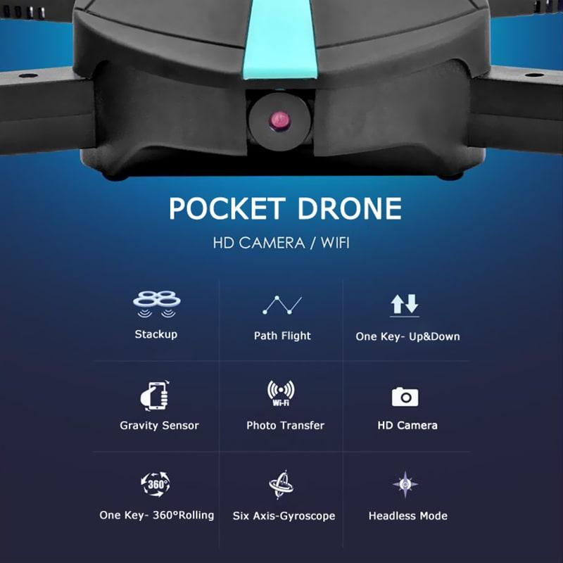JYO180 Mini Drone - 2.4GHz WiFi Control, 720p HD Camera, 6 Axis Gyro, App Control, 500mAh, 30m Range, FPV, 3D - 6
