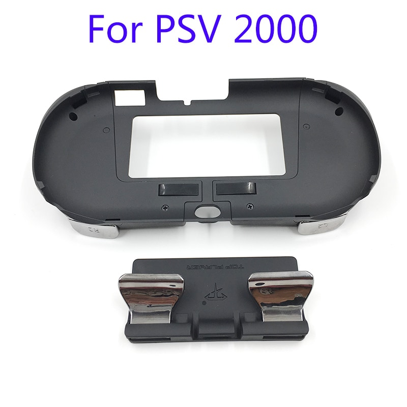 L2 R2 Hand Grip Handle Case & L3 R3 Trigger Button Touchpad Black For PS VITA 2000 - 3