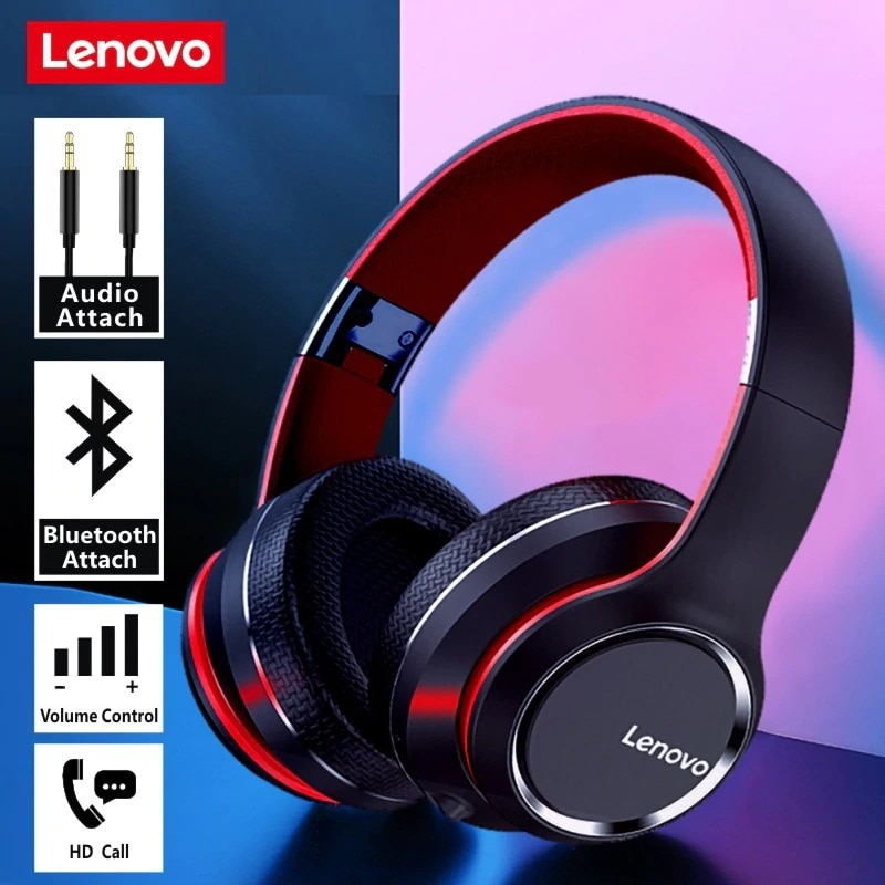Lenovo HD200 Wireless Headphones Bluetooth 5.0 Red - 3