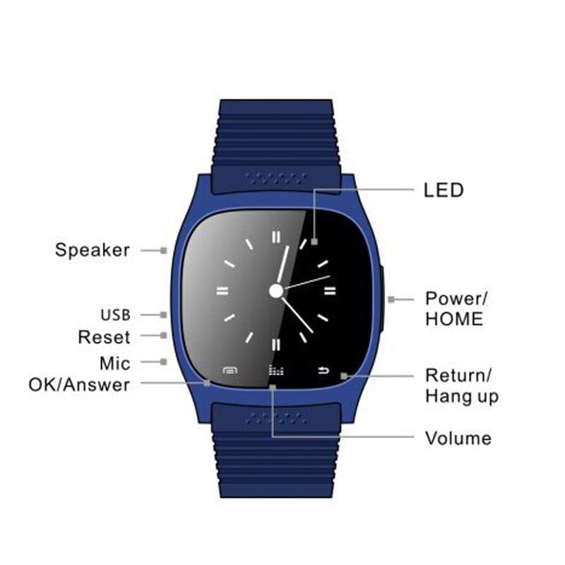 M26 Bluetooth Touch Screen Smart Watch  Blue - 4