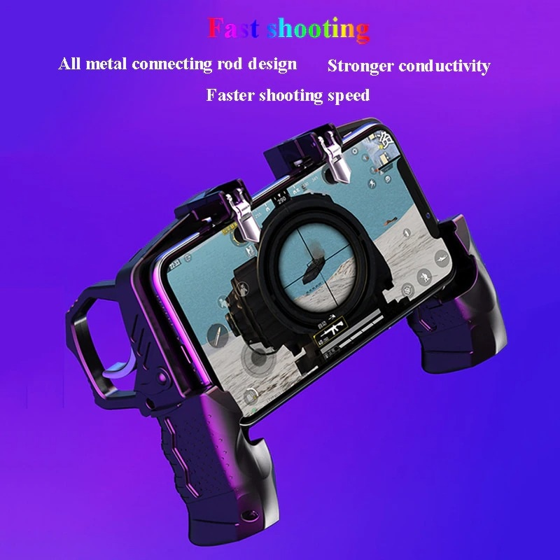 Metal Pubg Controller Joystick For Pubg Mobile Trigger Gamepad For iPhone Android Phone Shootingx Game - 5