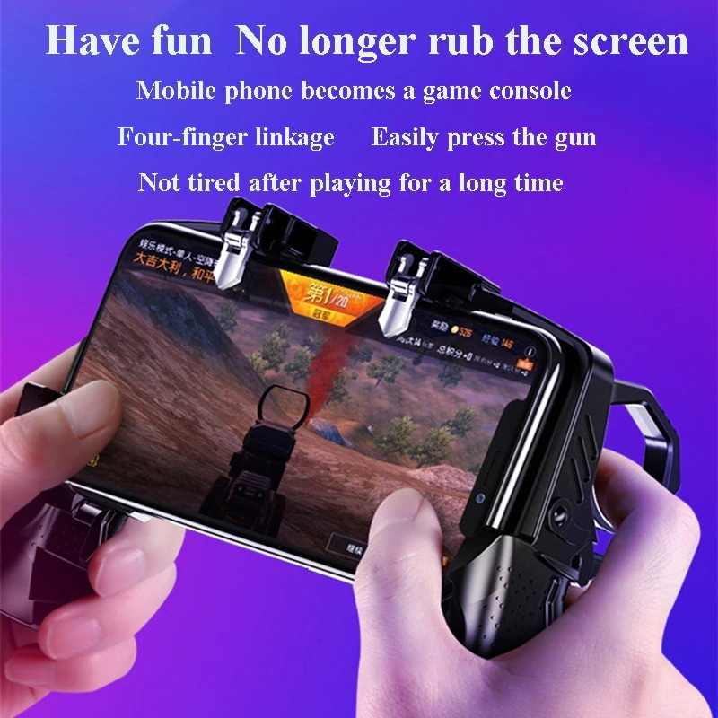 Metal Pubg Controller Joystick For Pubg Mobile Trigger Gamepad For iPhone Android Phone Shootingx Game - 2
