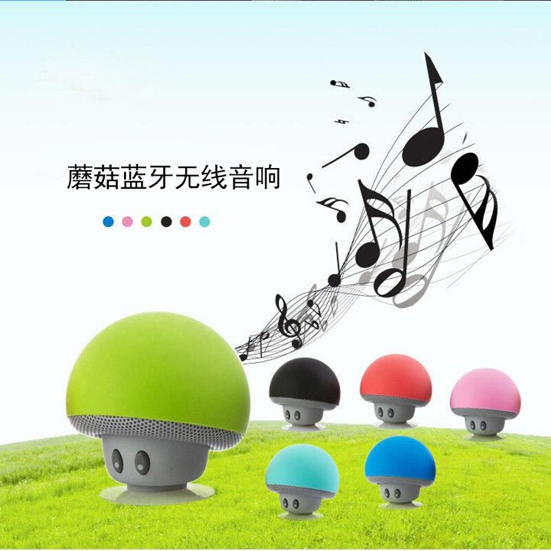 Mini Portable Cute Mushroom Head Bluetooth Speaker Wireless Stereo Speaker with Suction Cup Pink - 5