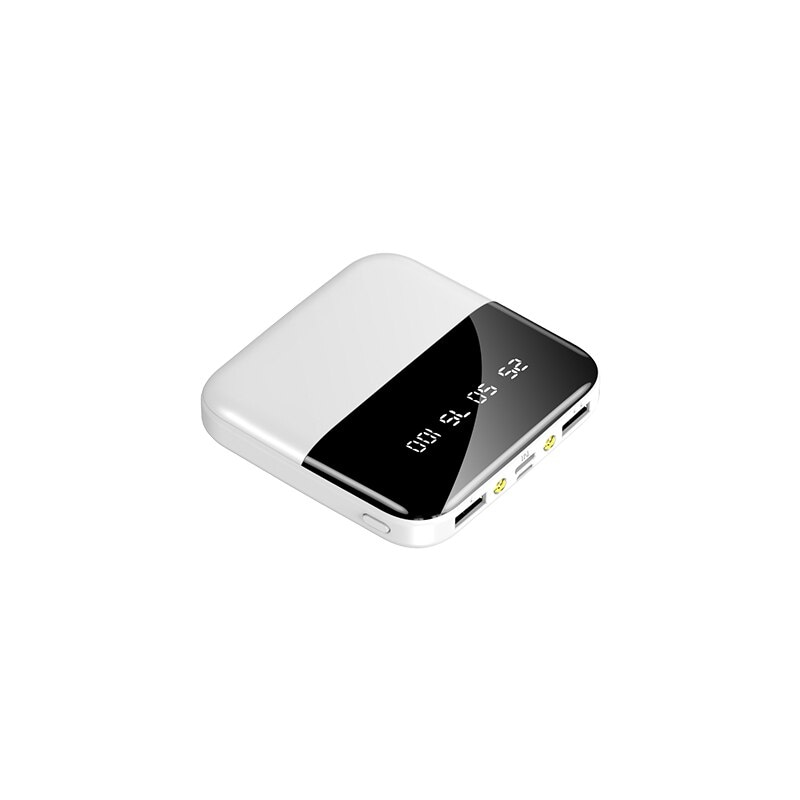 Mini Powerbank 30000mAh Fast Charger for all Smartphones White: Clear 3000-4999 mAh - 5