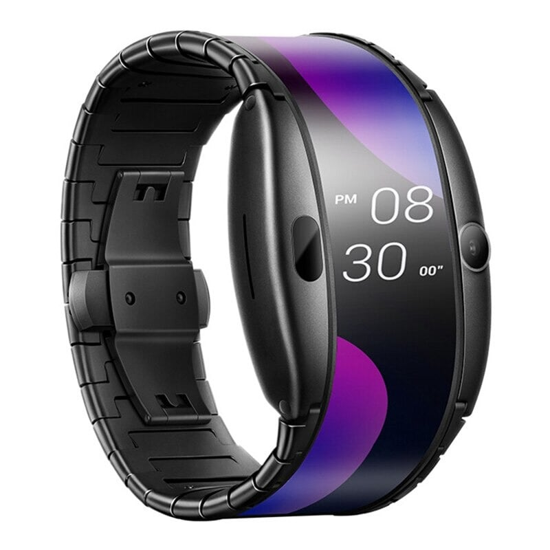 Original Global Version Nubia Alpha Smart Phone Watch 4.01 inch Foldable Flexible Screen Snapdragon 8909W Bluetooth call Black - 1