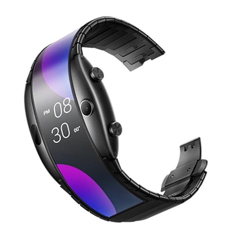 Original Global Version Nubia Alpha Smart Phone Watch 4.01 inch Foldable Flexible Screen Snapdragon 8909W Bluetooth call Black - 3