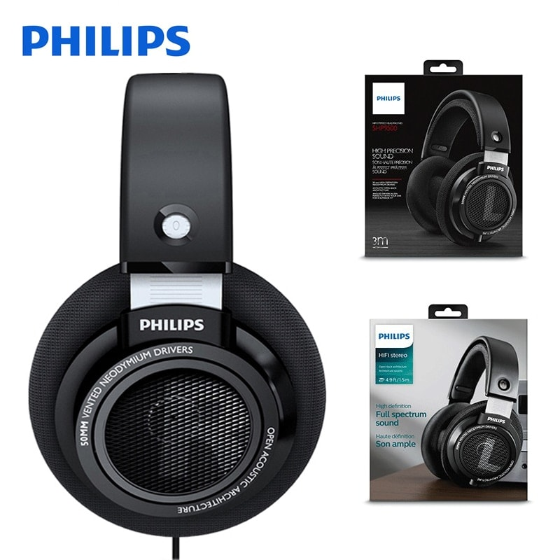 Original Philips SHP9500 High-quality Sound headset with Microphone Black - 2