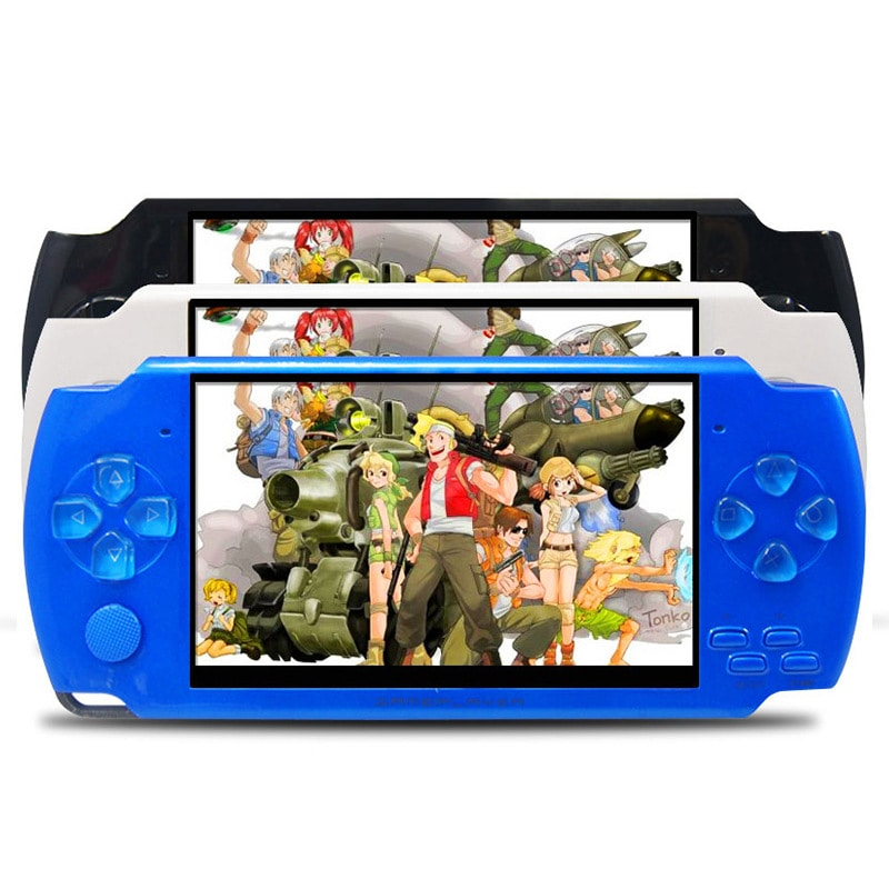 Retro Game Console, Nostalgic Handheld Game Console Came With 3 Colour Blue, Black And White. - 1