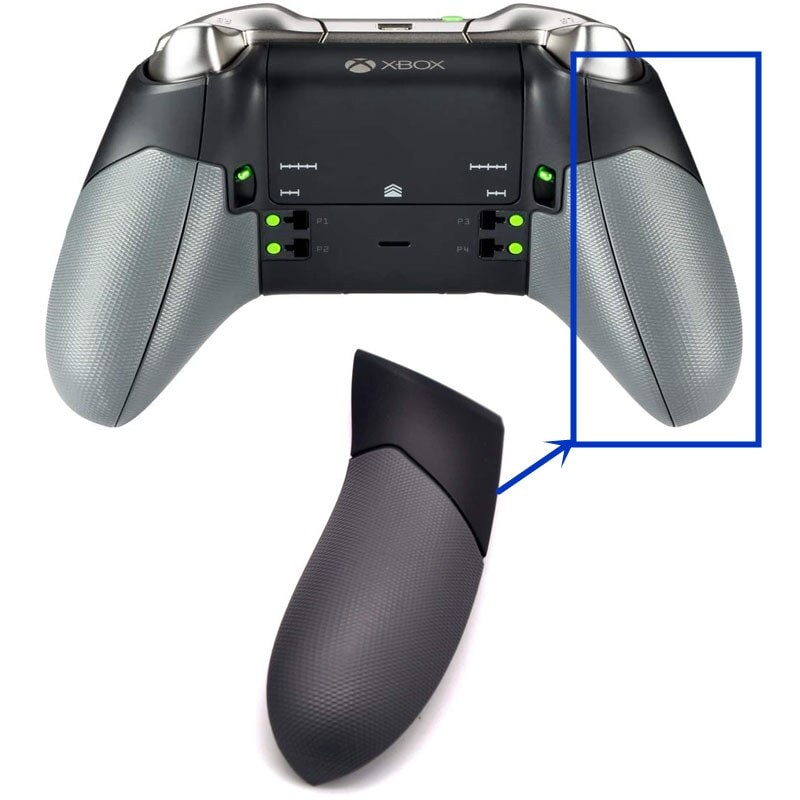 Right and Left Grips Replacement for Xbox one Elite Controller Black - 1