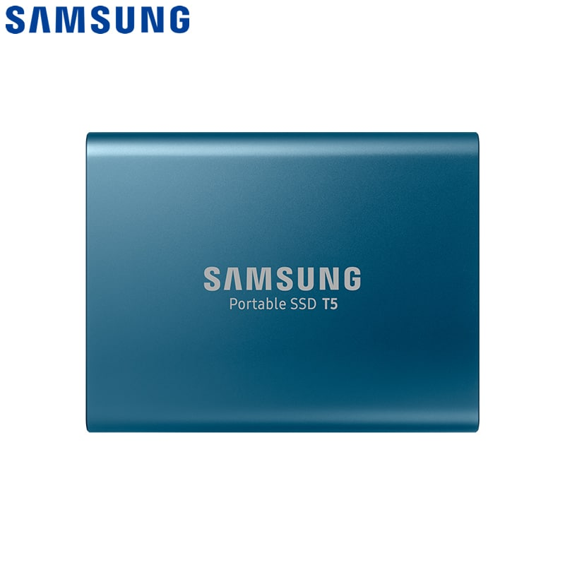 Samsung T5 Portable SSD Hardware with USB 3.1 Encryption - Blue, 250GB - 1