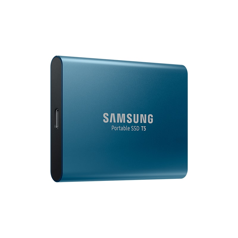 Samsung T5 Portable SSD Hardware with USB 3.1 Encryption - Blue, 250GB - 2