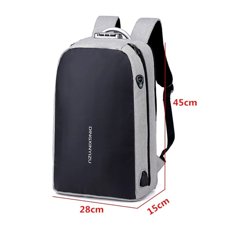 Shellnailx Waterproof Laptop Bag Travel Backpack Multi Function Anti Theft Bag For Men PC Backpack USB Charging For Macb Gray - 1