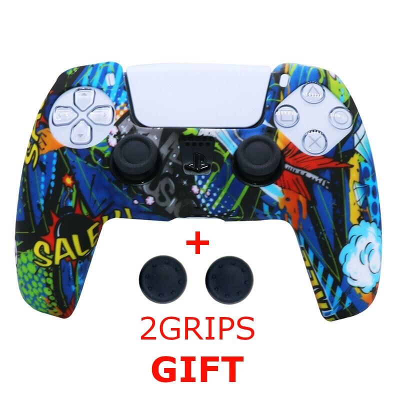 Silicone Cover for DualSense PS5 Controller Graffiti 3 Multi-Color - 1