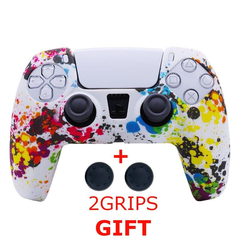 Silicone Cover for DualSense PS5 Controller Graffiti Multi-Colored - 1
