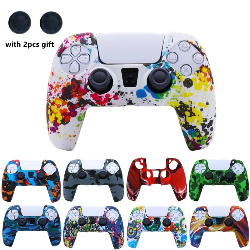 Silicone Cover for DualSense PS5 Controller Rainbow Multi-Colored - 2