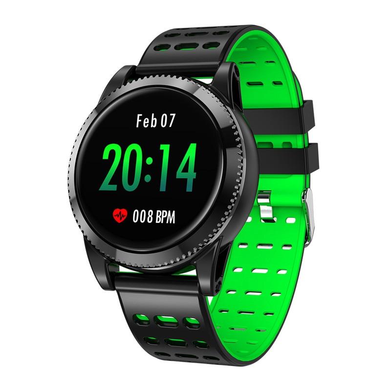 Sports Smart Bracelet - 1.3 Inch IPS Screen, 220mAh Battery, Pedometer, Blood Pressure Monitoring Green - 2