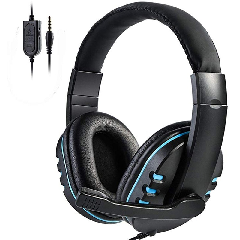 Stereo Gaming Headset For All PS4 Xbox one PC with Microphone and Volume Control Blue - 1