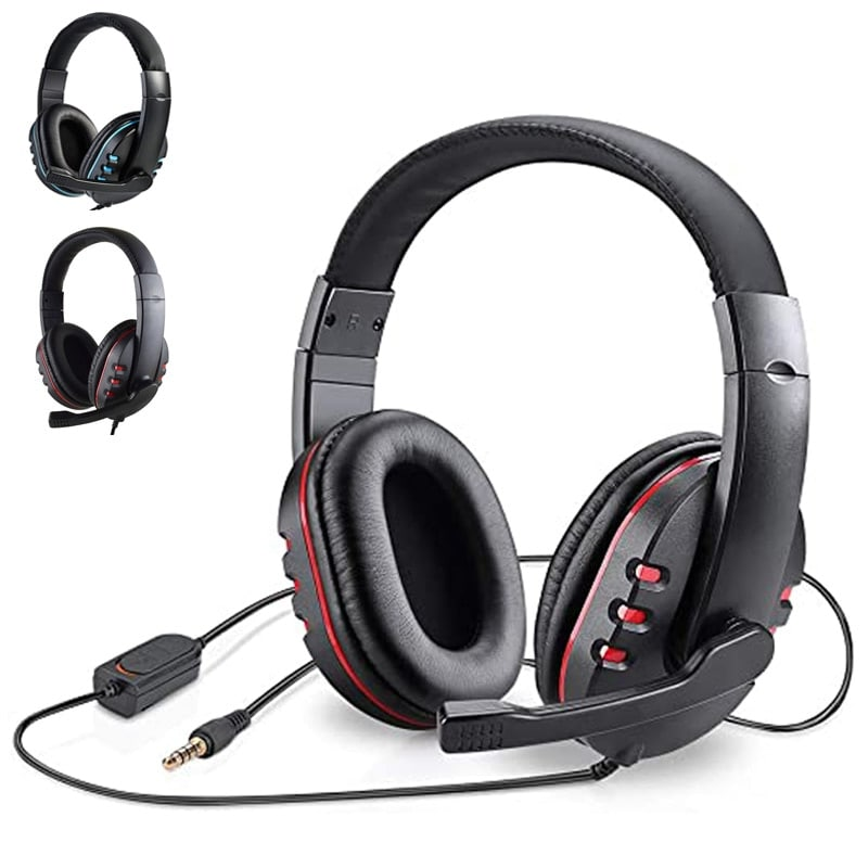 Stereo Gaming Headset For All PS4 Xbox one PC with Microphone and Volume Control Red - 2