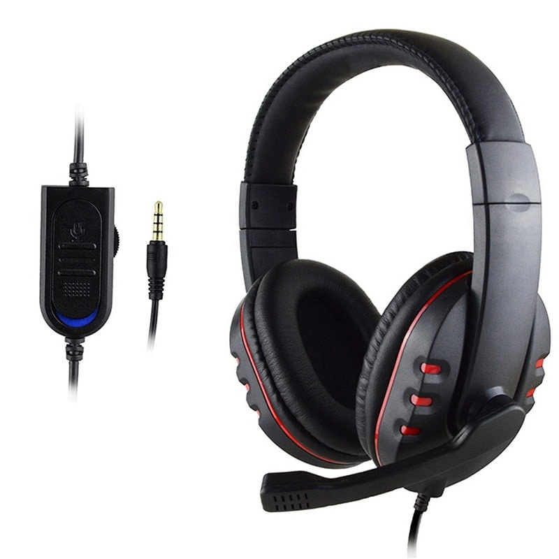 Stereo Gaming Headset For All PS4 Xbox one PC with Microphone and Volume Control Red - 1