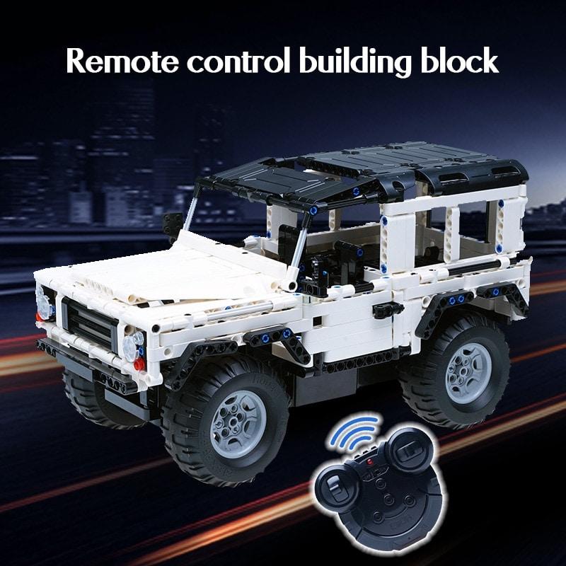 SUV DIY city brick Remote Car - 3