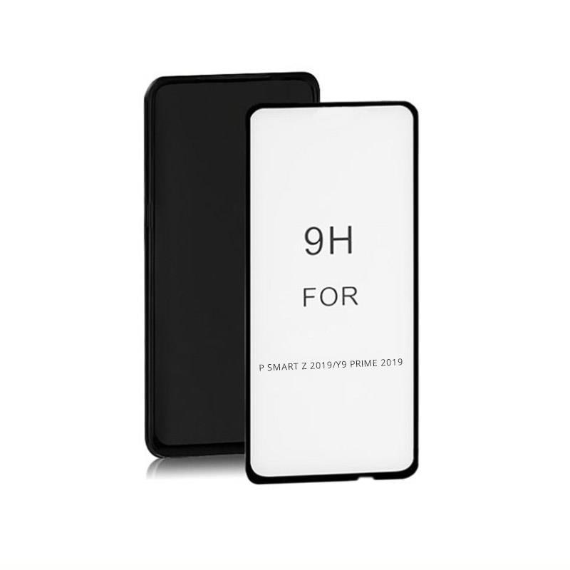 Szkło Ochronne Do Huawei Y9 Prime | 6D | Pełne | Czarne - 1