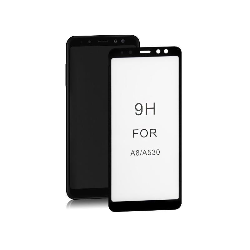 Szkło Ochronne Do Samsung Galaxy A8 2018   6D   Pełne   Czarne - 1