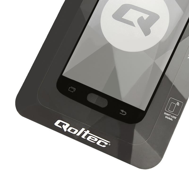 Szkło Ochronne Hartowane Premium Qoltec Do Samsung Galaxy S9   Czarne - 1
