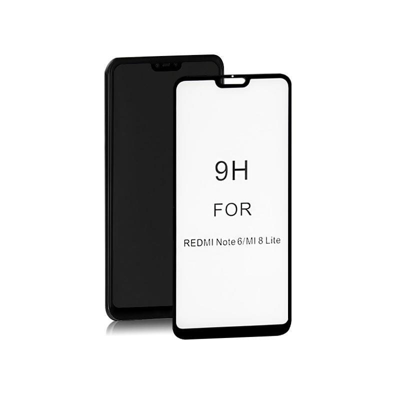 Szkło Ochronne Hartowane Premium Qoltec Do Xiaomi Mi8 Lite | 6D | Czarne - 1