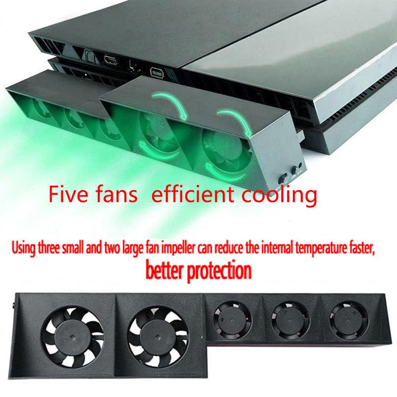 Temperature Control Cooler For PS4 5-Fan Playstation - 5